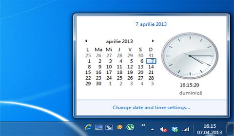 Setarea datei in Windows 7