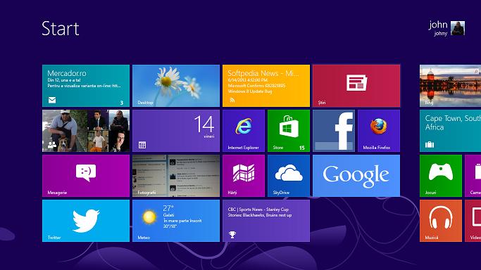 Interfata Metro - Windows 8