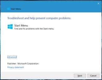 Cum rezolvi probleme din Start Meniu - Windows 10