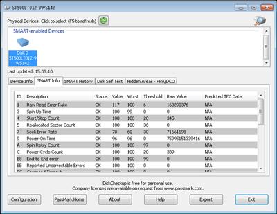 Program de testare a harddisk-ului